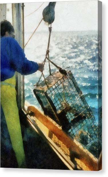 The Lobsterman Canvas Print