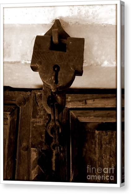 The Lock Canvas Print by Ankit Garg