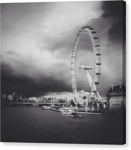 London Eye Canvas Print - Stormy Eye by Kelsey David