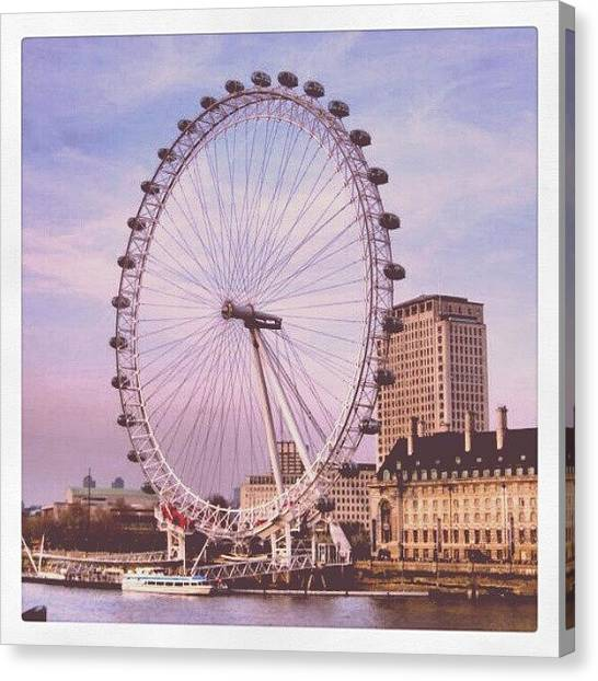 London Eye Canvas Print - The London Eye by Lottie H
