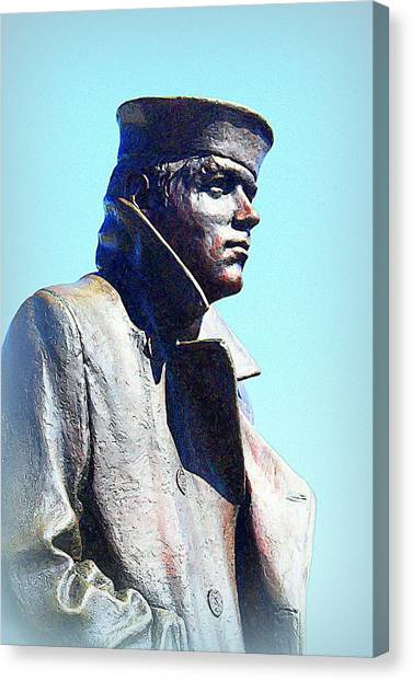 The Lone Sailor Canvas Print by Greg Thiemeyer