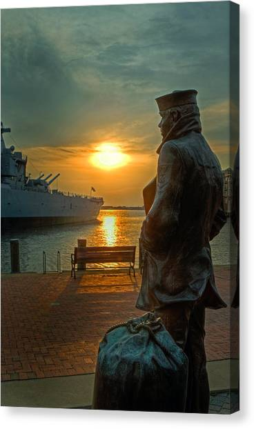The Lone Sailor Canvas Print