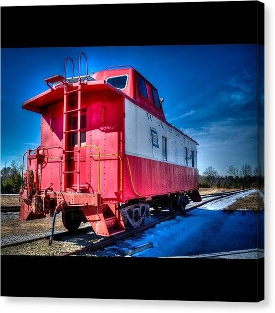 Trainspotting Canvas Print - The Lonely Caboose..... #abandoned by David Ferguson