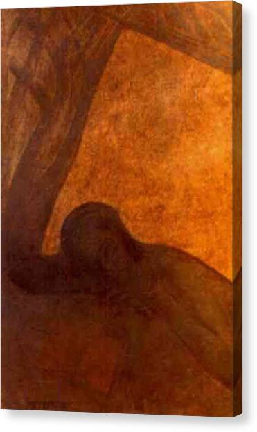 American Jewish Artists Canvas Print - The Lonely by Israel Tsvaygenbaum