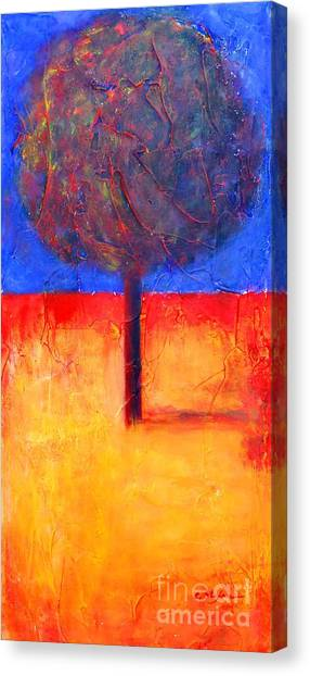 The Lonely Tree In Autumn Canvas Print