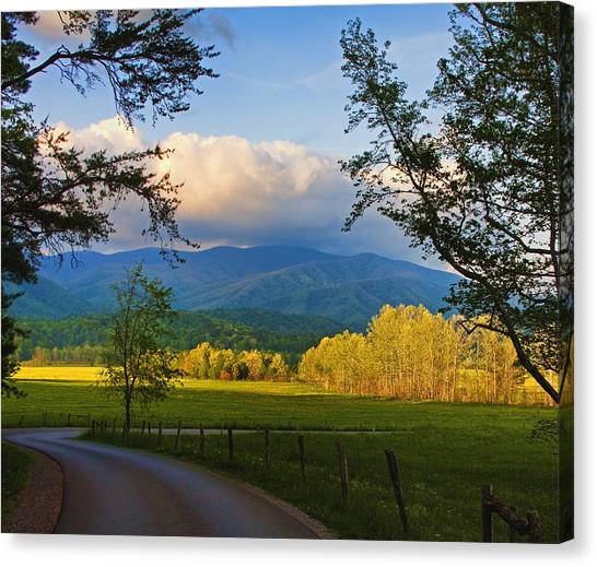 The Long And Winding Road Canvas Print by Dave Bosse