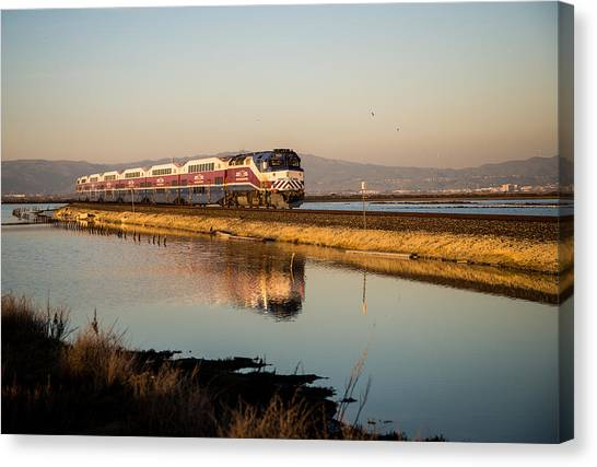 Trainspotting Canvas Print - The Long Commute by Alex Lapidus