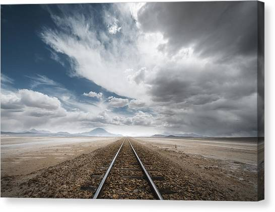 South American Canvas Print - The Long Road by Rostovskiy Anton