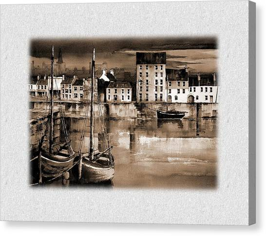 The Long Walk Galway Canvas Print