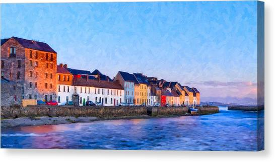 Canvas Print featuring the photograph The Long Walk In Galway Ireland by Mark E Tisdale