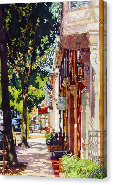 The Long Walk To Market Canvas Print