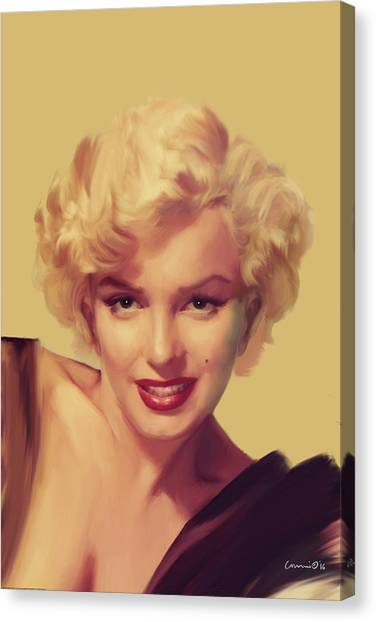 Marilyn Monroe Canvas Print - The Look In Gold by Chris Consani