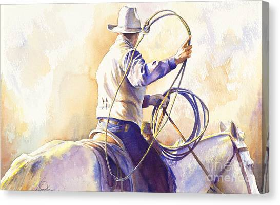 Cowboys Canvas Print - The Loop by Don Dane
