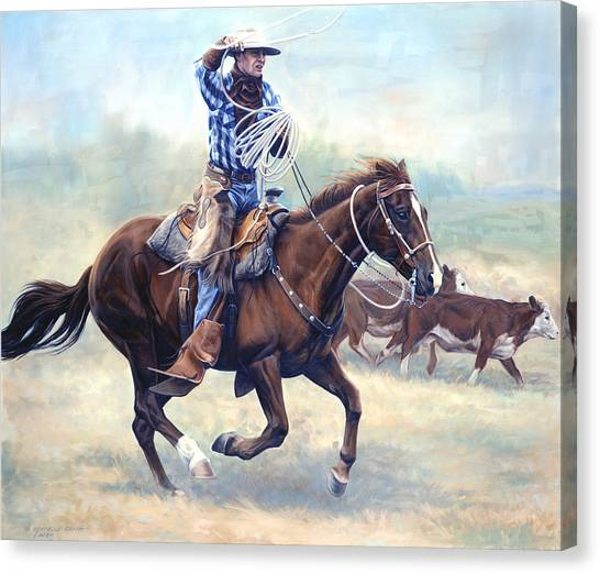 Equestrian Canvas Print - The Loop by JQ Licensing