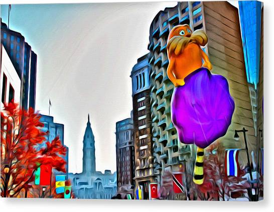 Macys Parade Canvas Print - The Lorax In Philly by Alice Gipson