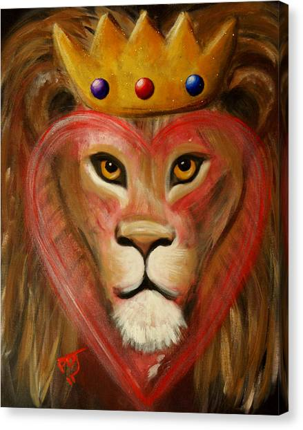 The Lord Of My Heart Canvas Print by Pamorama Jones