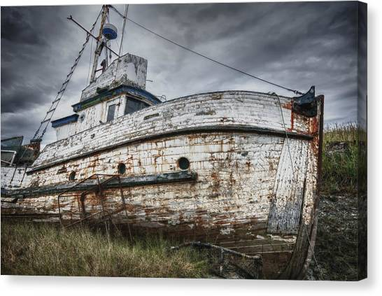 The Lost Fleet Weathering The Storm Canvas Print