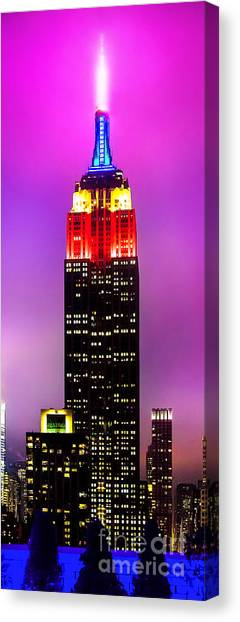 Empire State Building Canvas Print - The Love Empire by Az Jackson