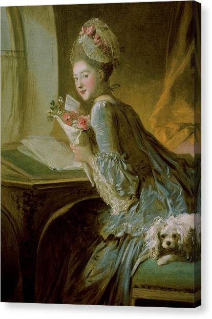 Rococo Art Canvas Print - The Love Letter by Jean Honore Fragonard