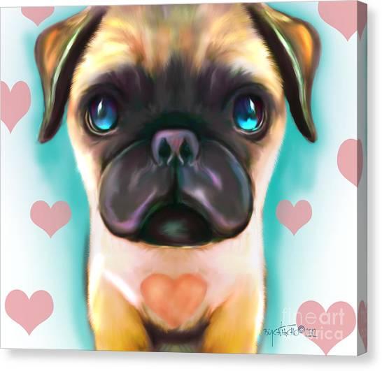 The Love Pug Canvas Print