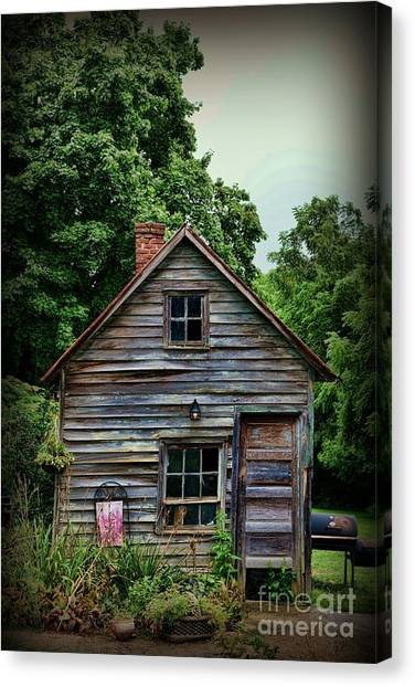 Rustic Canvas Print - The Love Shack by Paul Ward