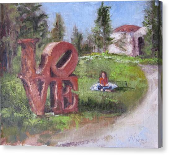The Love Trail 2 Canvas Print