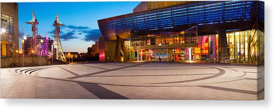 The British Museum Canvas Print - The Lowry Complex At Dusk, Salford by Panoramic Images