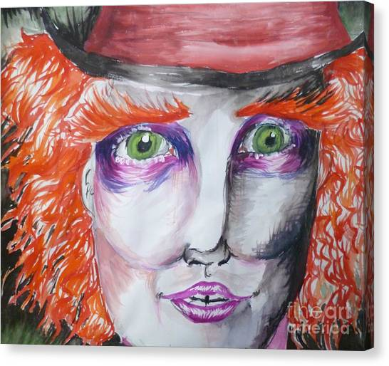 The Mad Hatter Canvas Print by Isobelle Rothery-Smith