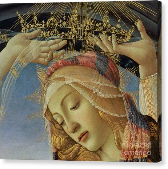 Botticelli Canvas Print - The Madonna Of The Magnificat by Sandro Botticelli