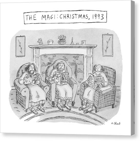 The Bean Canvas Print - The Magi:  Christmas by Roz Chast