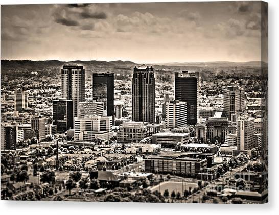 The Magic City Sepia Canvas Print