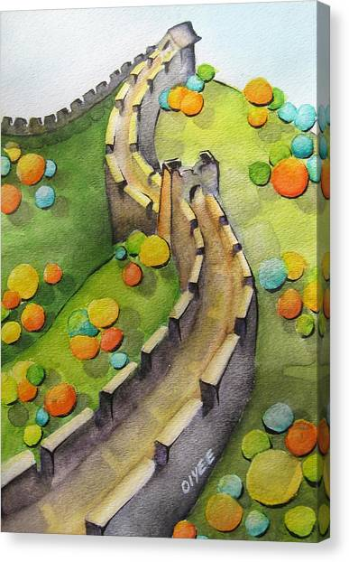 China Canvas Print - The Magical Great Wall by Oiyee At Oystudio