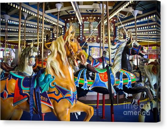 Casino Pier Canvas Print - The Magical Machine - Carousel by Colleen Kammerer