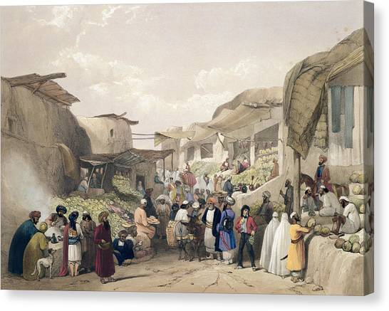 Melons Canvas Print - The Main Street In The Bazaar by James Atkinson