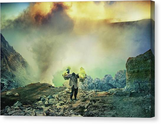 The Man From Green Crater Canvas Print by Ismail Raja Sulbar