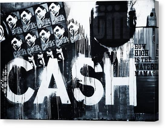 Johnny Cash Canvas Print - The Man In Black by Dan Sproul