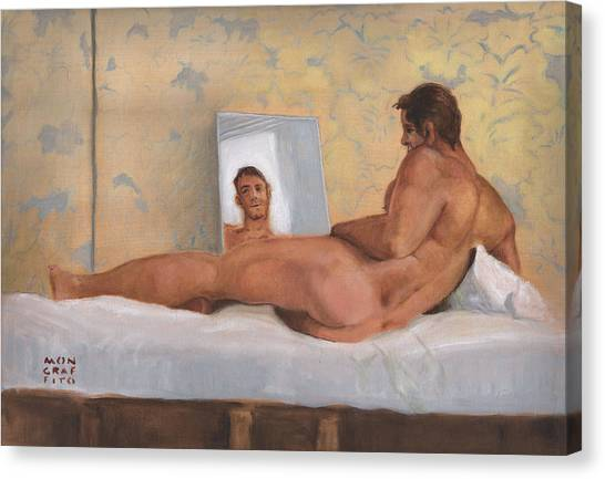 The Man In The Mirror Canvas Print
