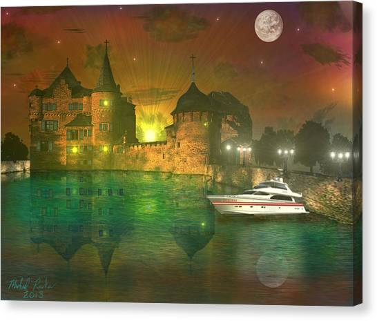 The Mansion Canvas Print by Michael Rucker