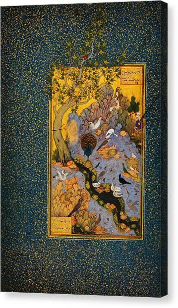 Jihad Canvas Print - The Mantiq Al-tair by Celestial Images