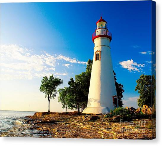 The Marblehead Light Canvas Print
