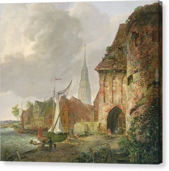 Gateway Arch Canvas Print - The March Gate In Buxtehude by Adolph Kiste
