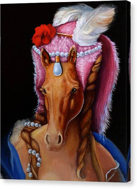 Queen Elizabeth Canvas Print - The Mare As Queen by Catherine Twomey