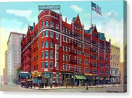 The Marlborough Hotel In New York City In 1909 Canvas Print by Dwight Goss