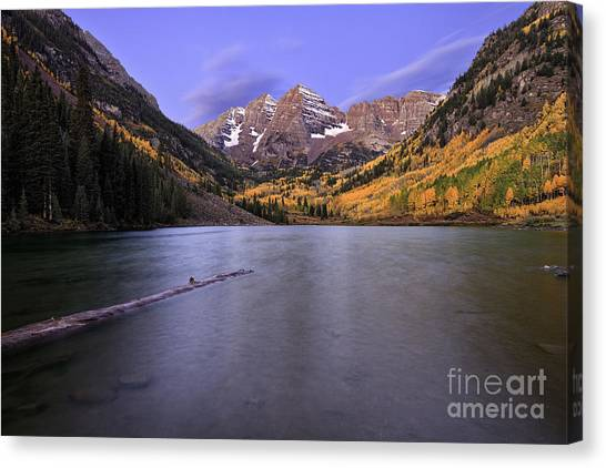 The Maroon Bells Canvas Print