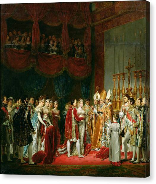 Bishops Canvas Print - The Marriage Of Napoleon I 1769-1821 And Marie Louise 1791-1847 Archduchess Of Austria, 2nd April by Georges Rouget