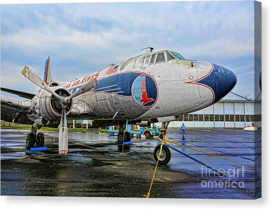 Prop Planes Canvas Print - The Martin 404 - Eastern Airlines by Lee Dos Santos