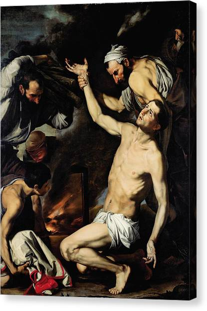 Gridiron Canvas Print - The Martyrdom Of Saint Lawrence by Jusepe de Ribera