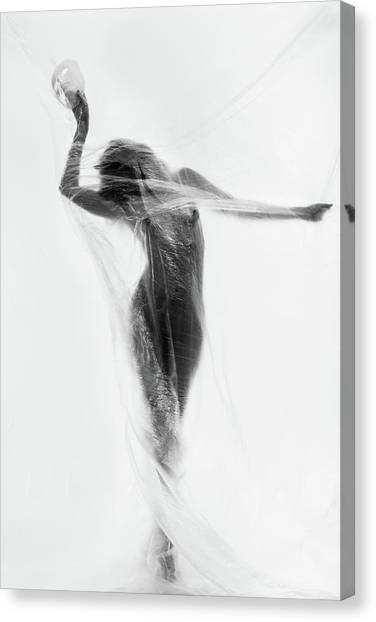 Fine Art Nudes Canvas Print - The Mask Dance by Patrick Odorizzi
