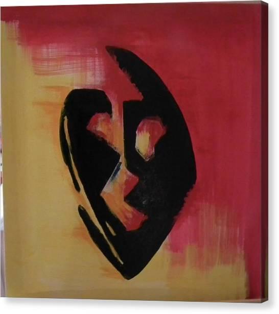 The Mask Canvas Print by Faria  Ehsan