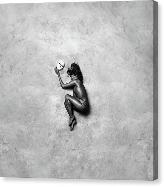 Fine Art Nudes Canvas Print - The Mask by Patrick Odorizzi